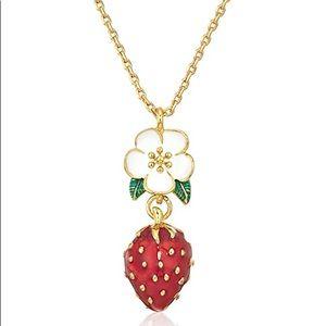 Perfect Picnic Mini Strawberry Pendant Necklace